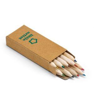 501 - Caixa com 10 mini lapis de cor