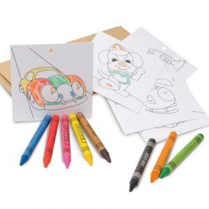 503 - Caixa com Giz de Cera e cartões para colorir